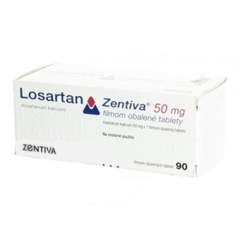 Лозартан (Losartan Zentiva) 50мг, 90табл.
