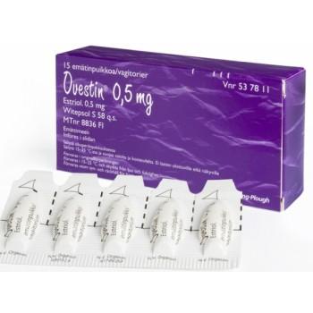 Овестин (Ovestin) 0,5 мг, 15 вагинальных суппозиториев