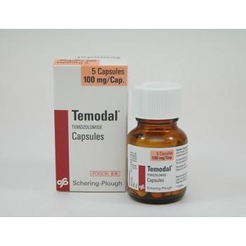 Темодал (Temodal) 100 мг, 5 капсул