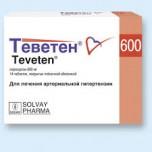Теветен (Teveten) 600 мг, 14 таблеток
