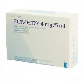 Зомета (Zometa) 4 мг/5 мл, 1 флакон